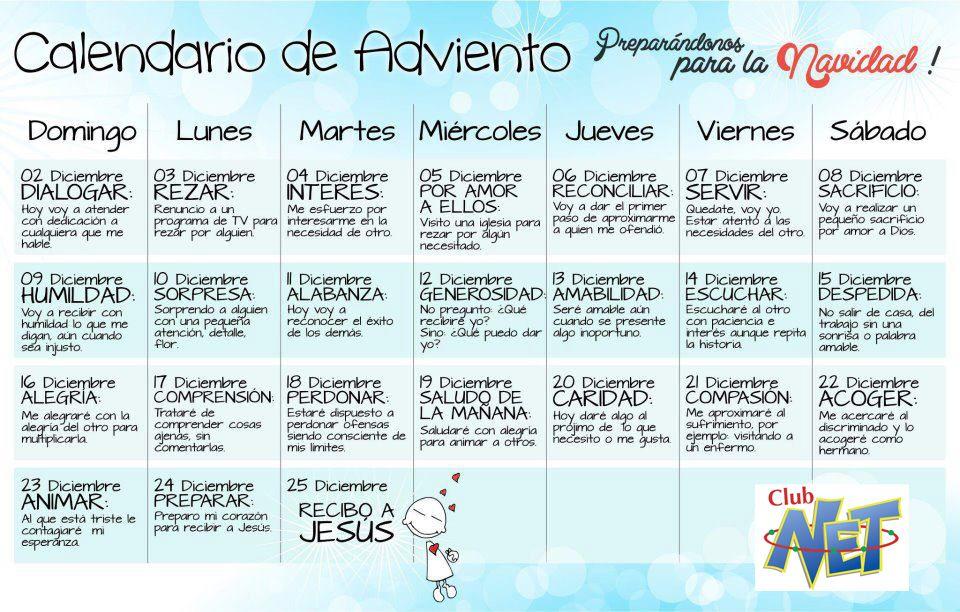 Catequesis de galicia for Calendario adviento 2017