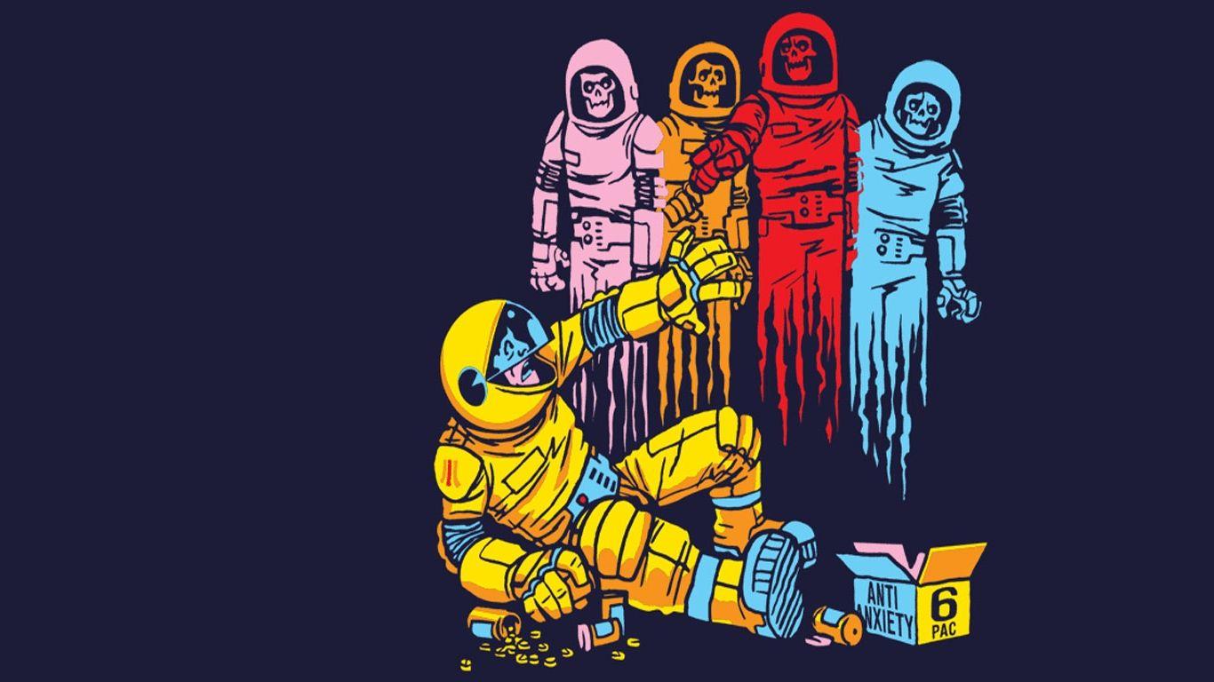Pacman Iphone 6 Wallpaper Hd: Pac-Man Astronauts Wallpaper (#427208) / Wallbase.cc