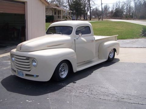 1950 Ford F 100 Mo 30 000 Pinstriped Vanilla Exterior Paint
