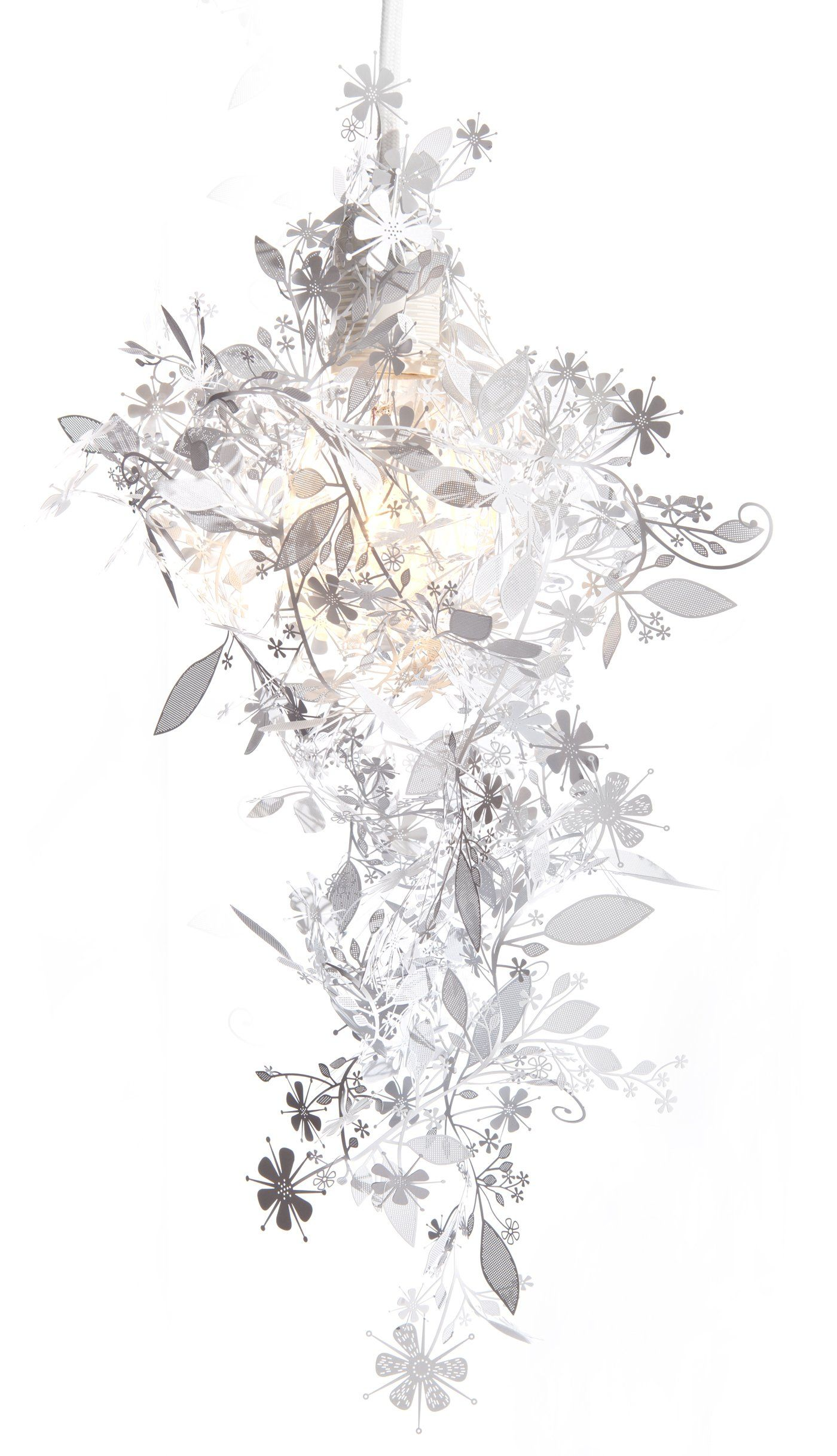 Amazing Tord Boontje Artecnica Garland Shade White Laser Cut Pendant Power Cord Used Images