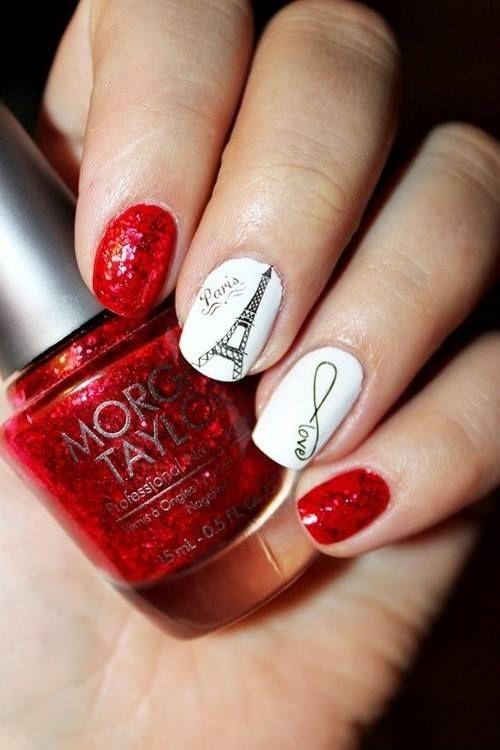 paris al rojo   Arte uñas   Pinterest   Rojo, Diseños de uñas y Arte ...