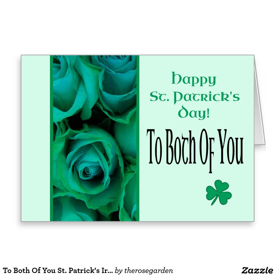 To both of you st patricks irish roses shared board for greeting to both of you st patricks irish roses greeting card m4hsunfo