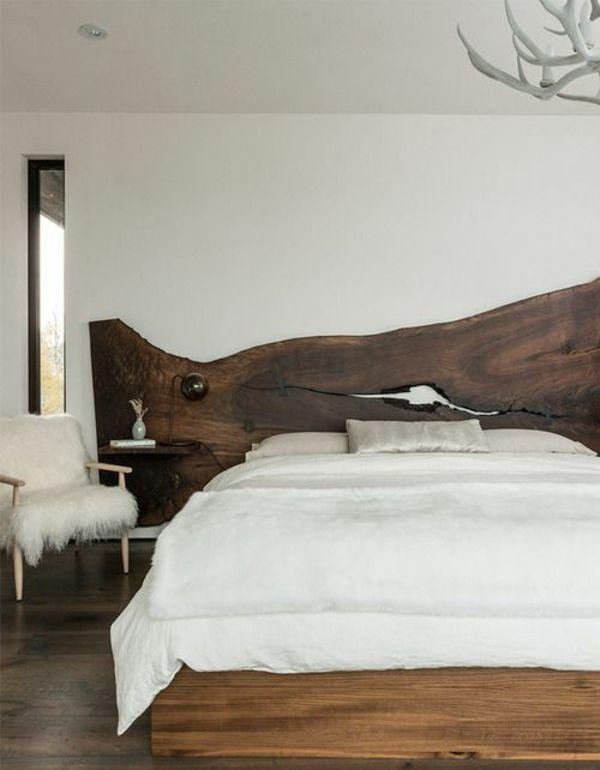 kopfteil bett aus holz wei e bettw sche m bel selber. Black Bedroom Furniture Sets. Home Design Ideas