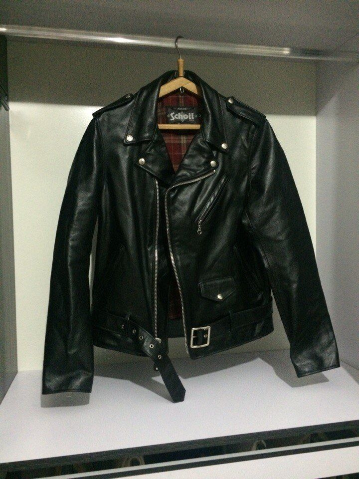 cc2ac7114 SCHOTT NYC Perfecto Model 626 Leather Motorcycle Jacket black size M ...
