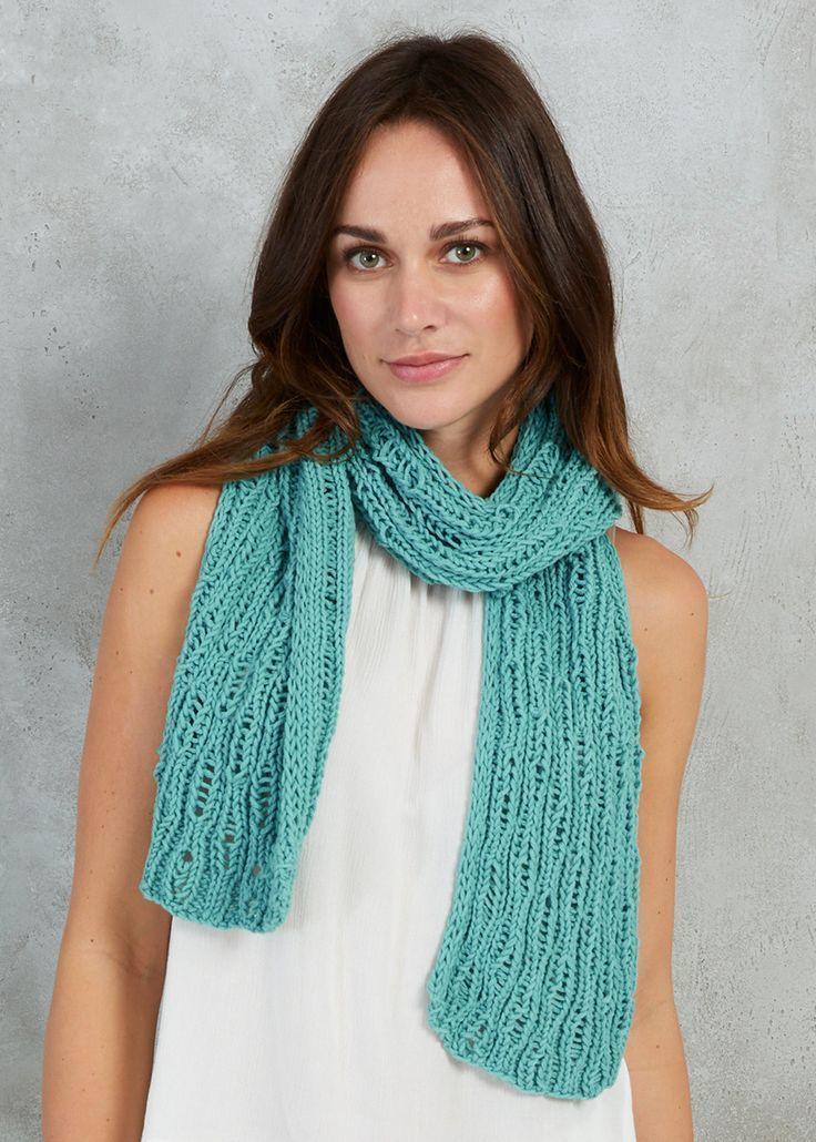 Free Knitting Pattern for a Drop Stitch Scarf - Free ...