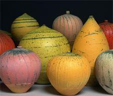 Nicholas Bernard :multiple firings, layered colored slips & oxides gas fired