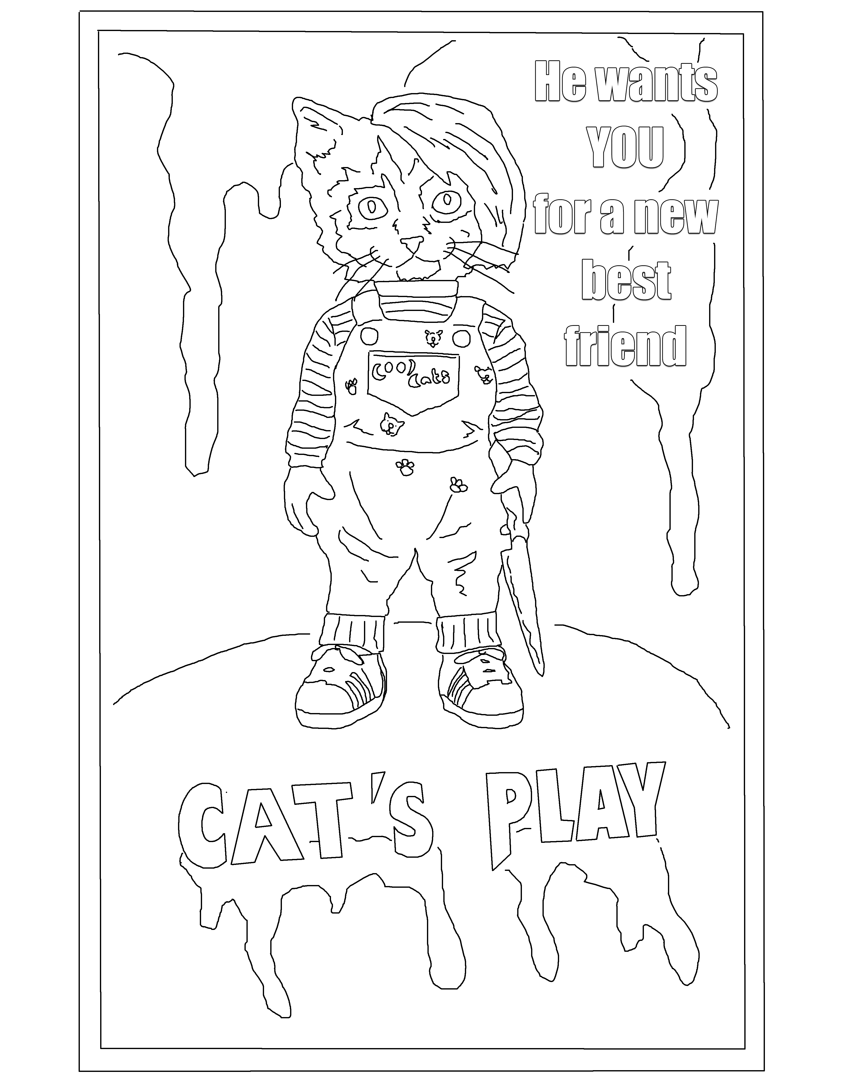 Cat S Play Cat Playing Coloring Books Kids Playing