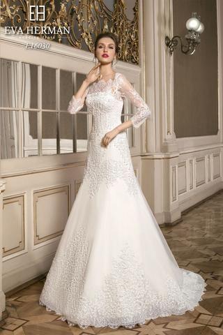 eva herman  sophisticated wedding gown lace wedding