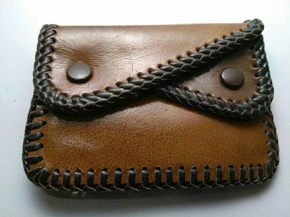 cbce44b2b Billetera de cuero hecho a mano vintage cartera monedero | Carteras ...