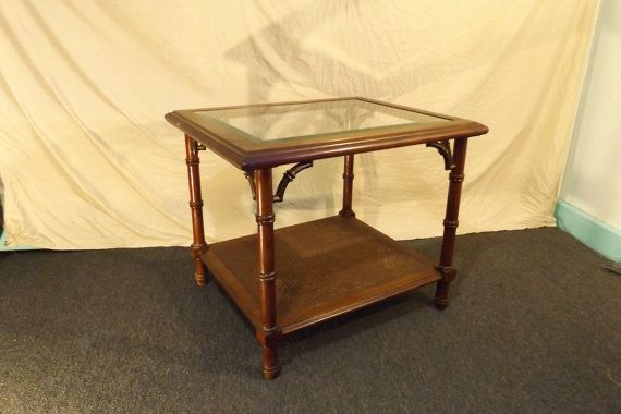 Hollywood Regency Lane End Table Faux Bamboo With By Thepakhuis