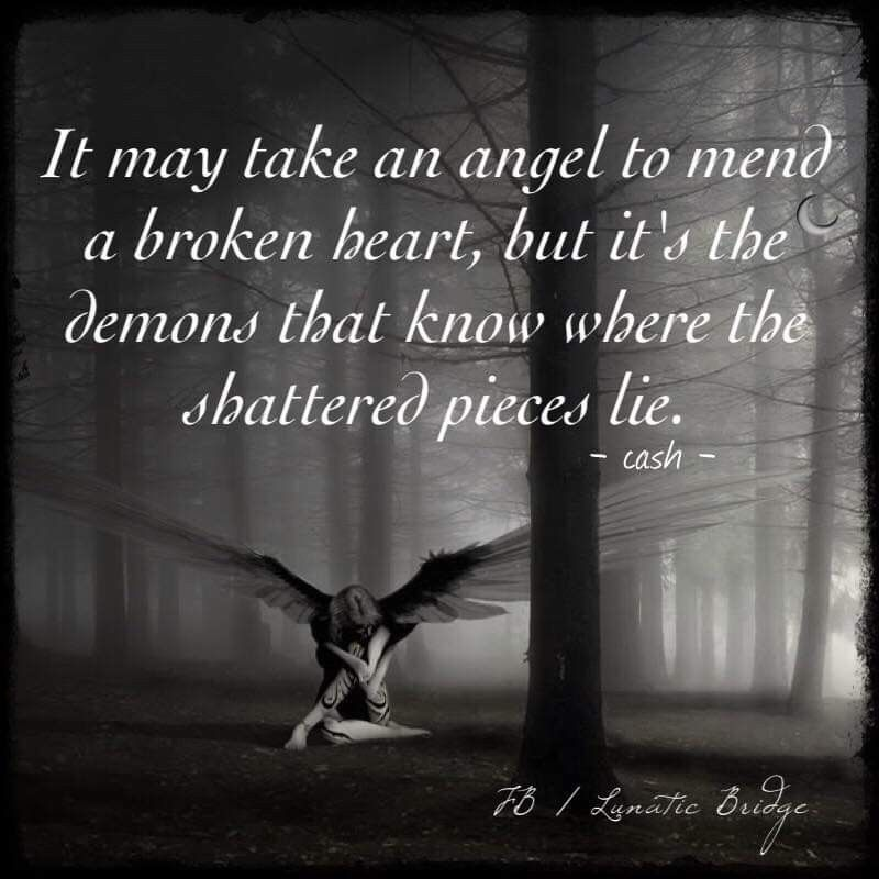 Pin By Janique On Wrecked Angels And Demons Quotes Dark Love