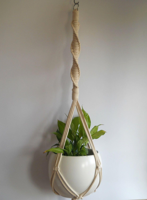 Twine Macrame plant hanger-indoor plant holder-Hanging Planter ...