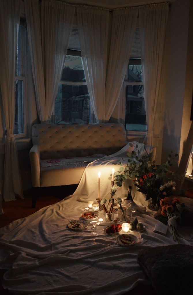 Romantic Bedroom At Night: At Home Date Nights, Decor