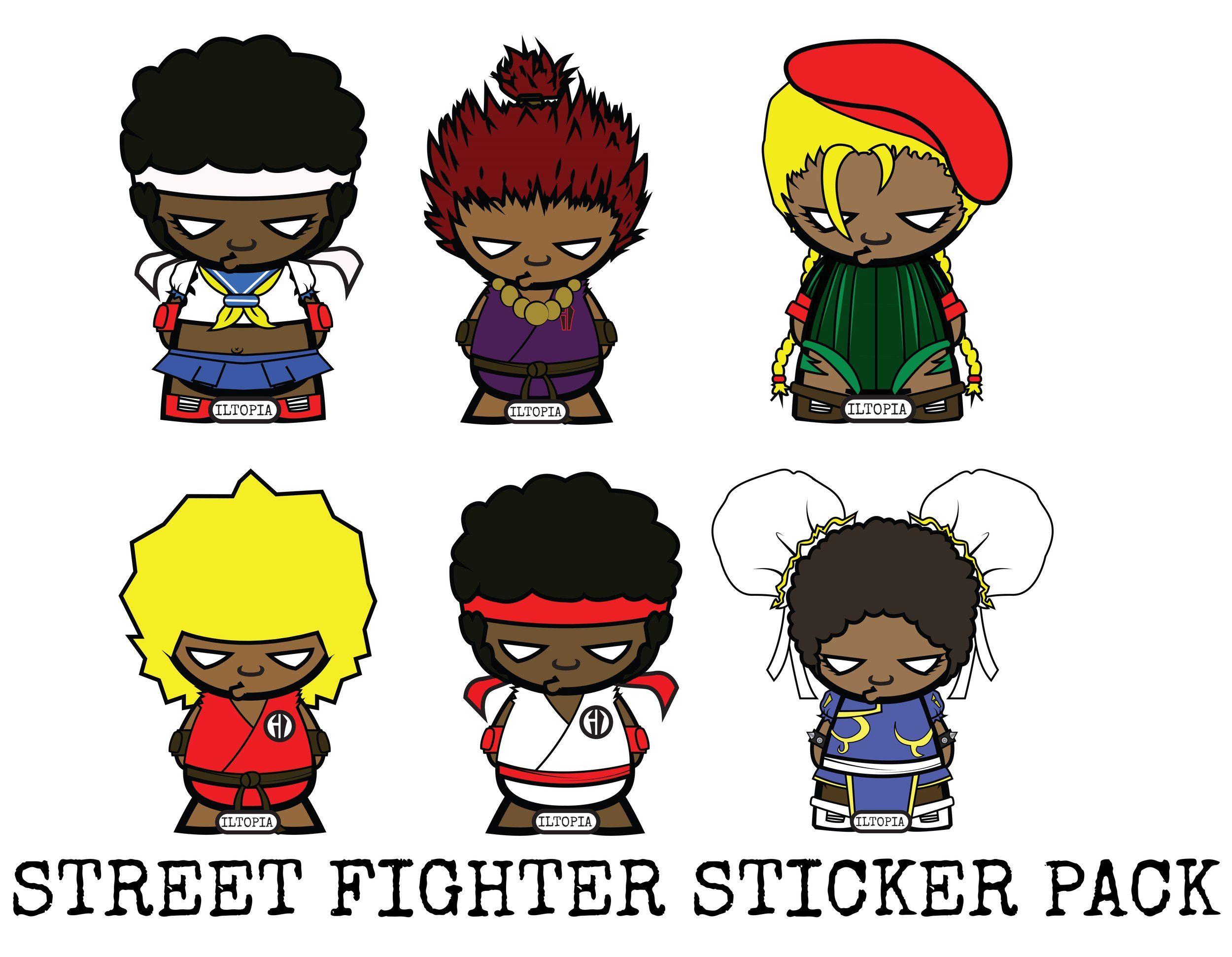 Street fighter sticker pack