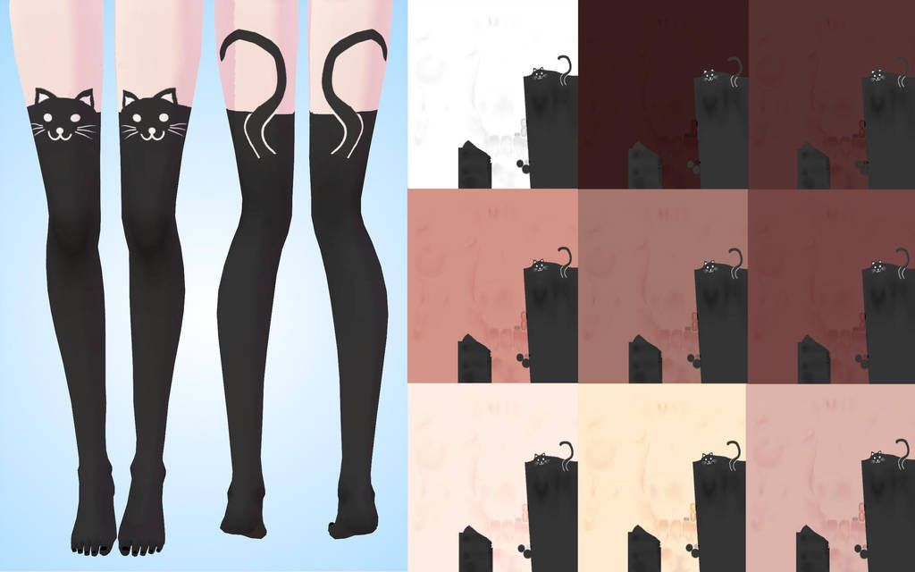 texture stockings (cat) for TDA MMD by NekaSan | salimsh in