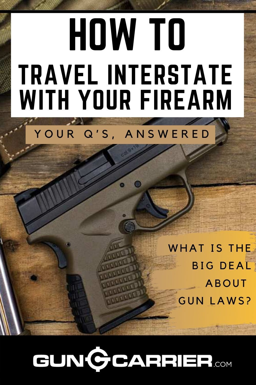 How To Travel Interstate With Your Firearm in 2020 Guns