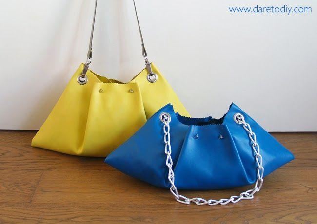 DIY: El bolso de piel más fácil del mundo (en 10 minutos y casi sin coser) - Dare to DIY