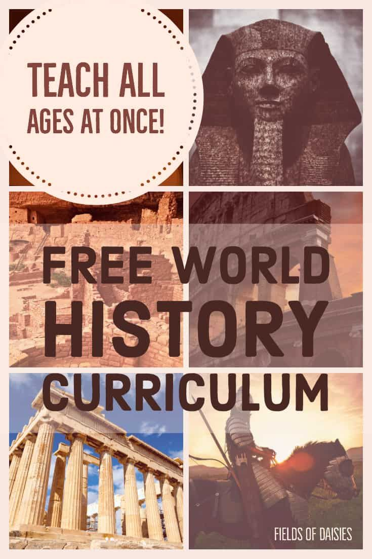 Homeschool World History Plan (Teach all ages at once !) #history