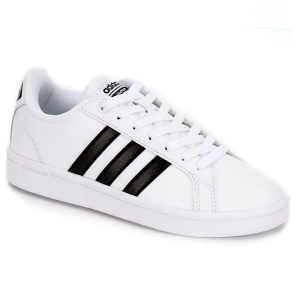 Advantage Adidas Cloudfoam White Womens Stripes rxEQeWCdBo