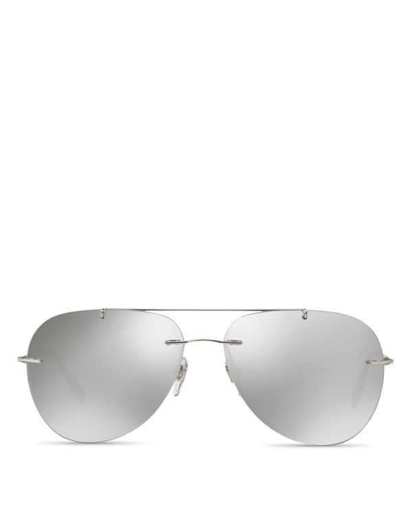 2d8129eb2 Prada Mirrored Rimless Aviator Sunglasses, 60mm | sunglasses ...