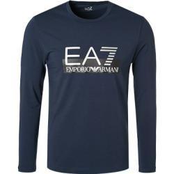 Photo of Ea7 camiseta masculina manga longa, algodão, azul escuro Armani