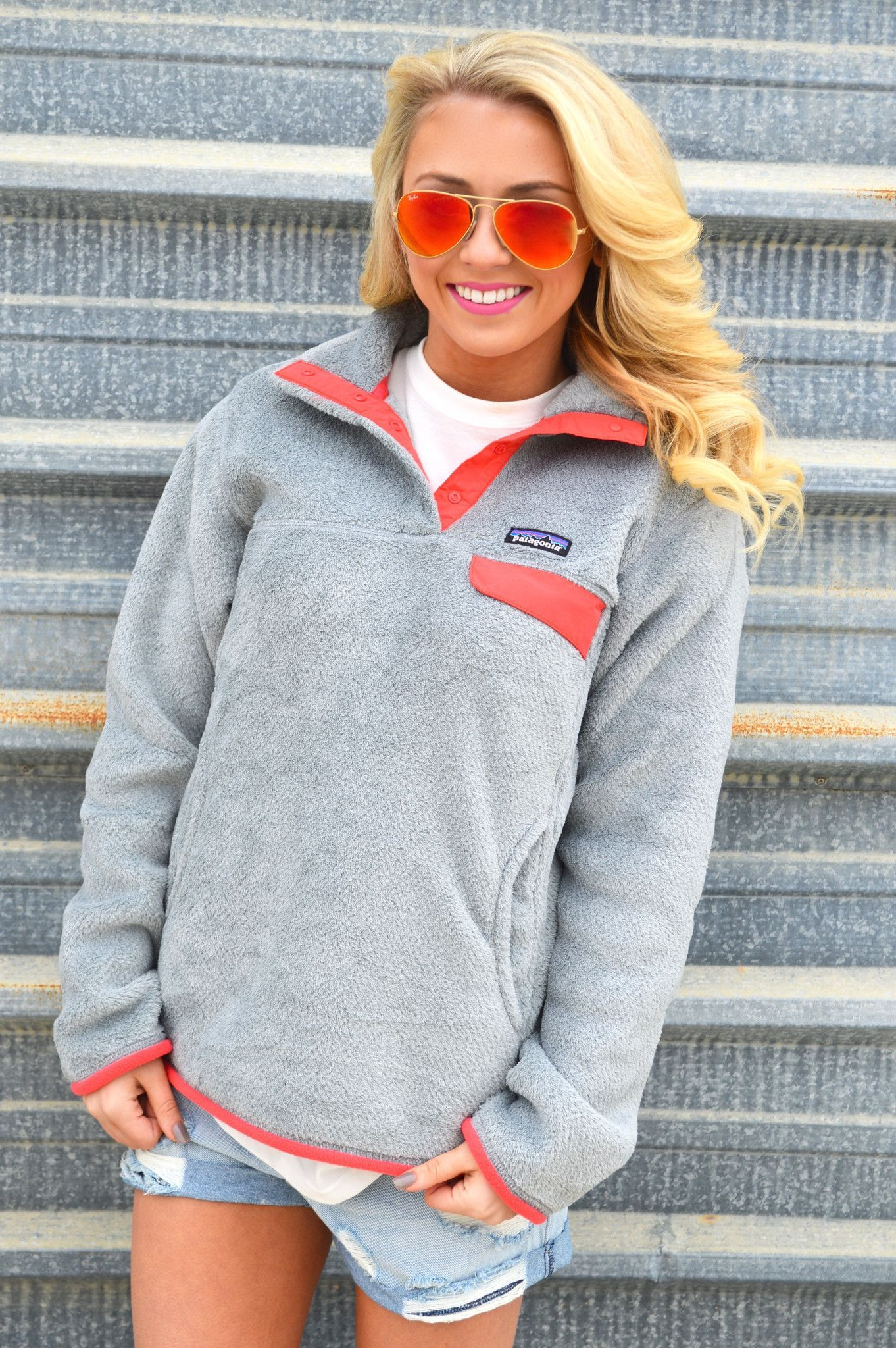 872878974 Women's Re-Tool Snap-T Fleece Pullover- Tailored Grey and Shock Pink from