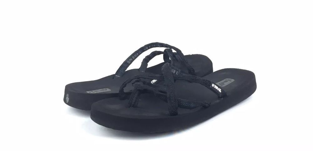 2325155f7877 Teva Womens Olowahu Mush Black Strappy Flip-Flops Sandals Size 9W  25   fashion  clothing  shoes  accessories  womensshoes  sandals (ebay link)