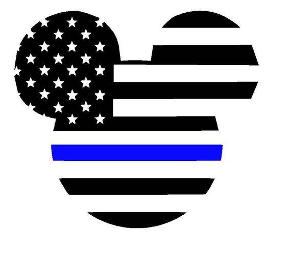 I Stand USA Flag Sticker Blue Line Military LEO America Car Window Bumper Decal