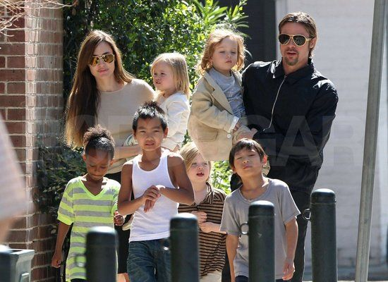 While the Jolie-Pitt family didn't expand in 2011, they did spend the year traveling as a pack. From Budapest to Cambodia, the Jolie-Pitts were literally all over the map; they were spotted here all together in their sometimes-home New Orleans.