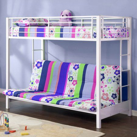 Walker Edison Twin Over Futon Metal Bunk Bed Whitebedrooms Beds Diy
