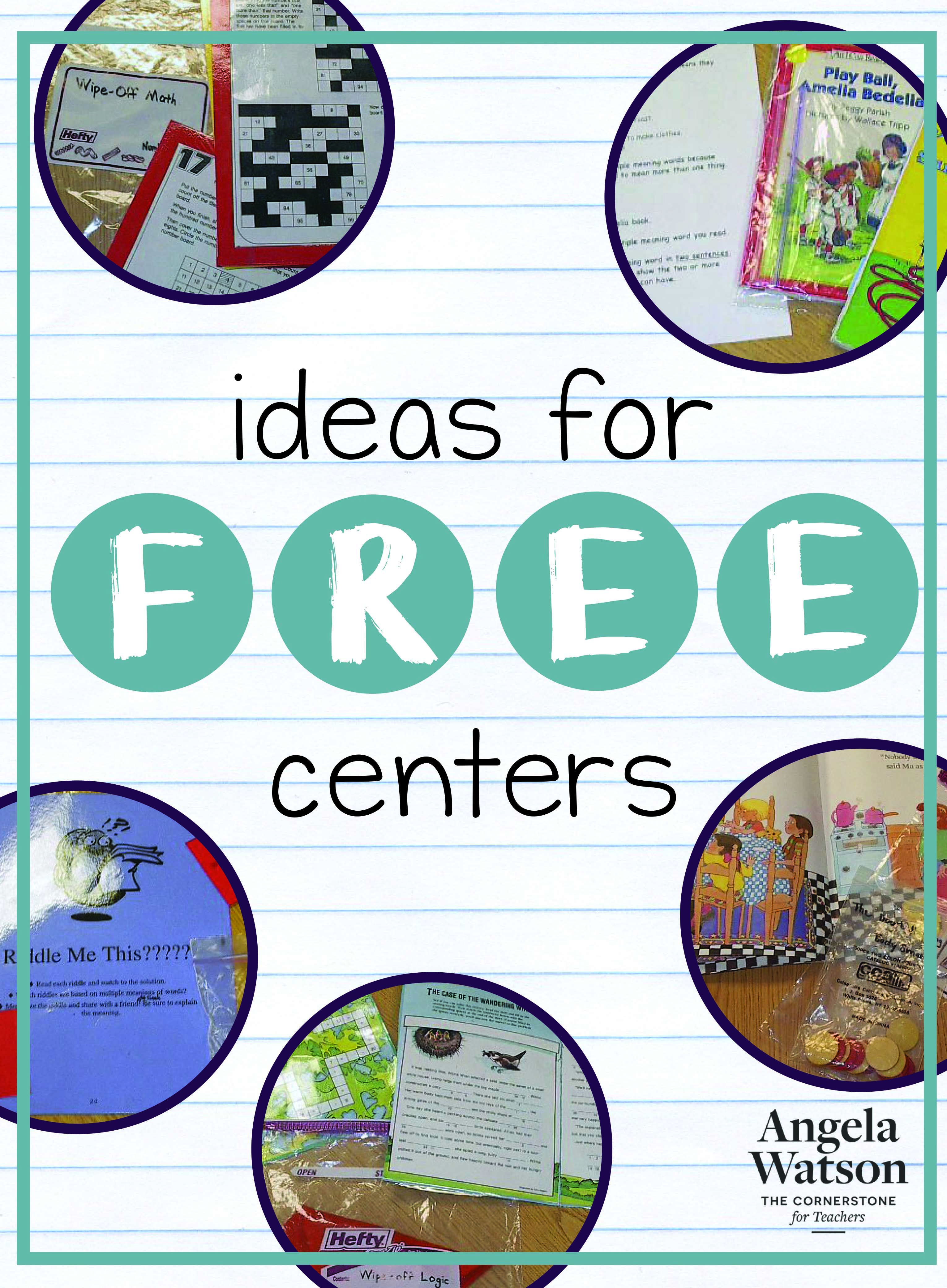 Ideas for Free Centers | Class library, Learning centers and Worksheets