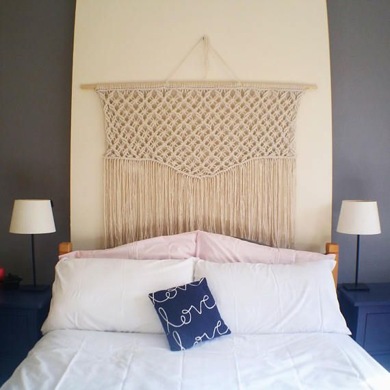 Large Macrame Wall Hanging / Wall Hanging / Over Bed /bohemian Wall Hanging  /Bohochic / Nursery Decor / Handmade /macrame In The Uk / Flag