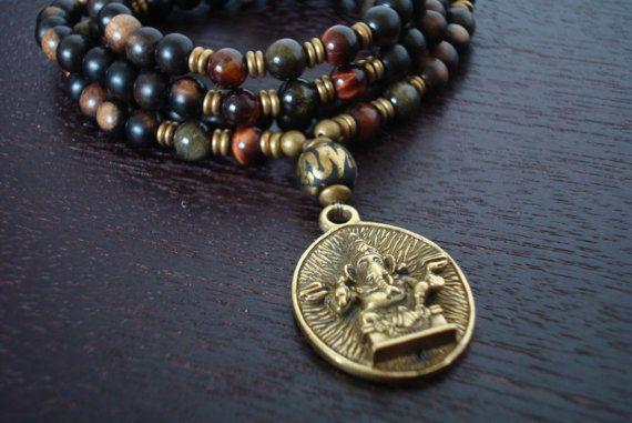 9a62603617f6b Men's Healing & Personal Power Mala - Red Tiger's Eye, Sheen ...