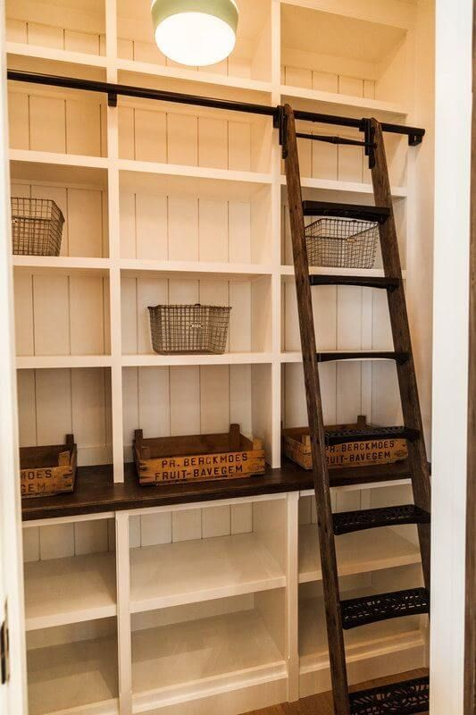 17 Awesome Pantry Shelving Ideas to Make Your Pantry More Organized #kitchenpantries Pantries are useful, but can quickly become messy and unorganized. Explore simple cheap pantry shelving ideas to spice up your kitchen storage and get things in order.  #Pantry #Kitchen #Storage #Shelving #custompantryshelvingideas #pantryshelving