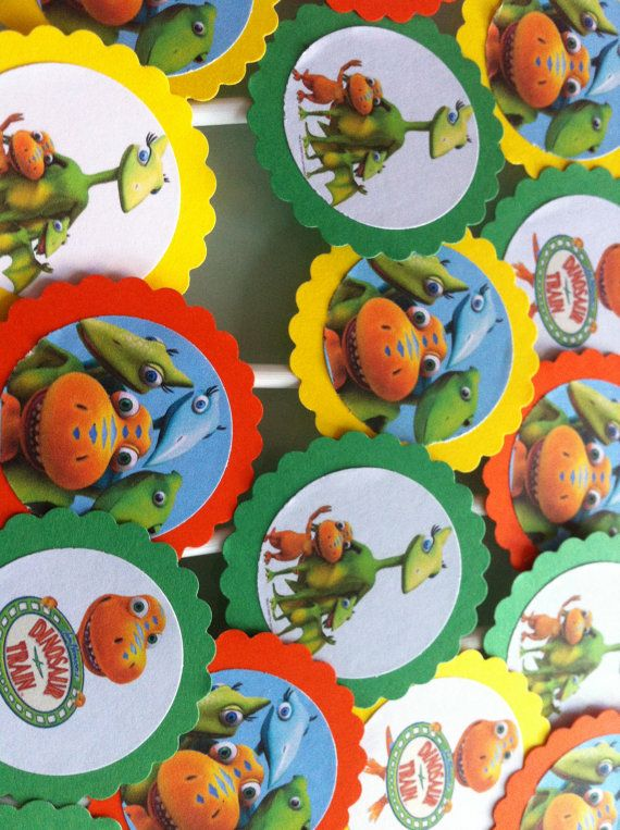 24 Dinosaur Train Cupcake Toppers Party Decoration by RaspVerry, $12.99