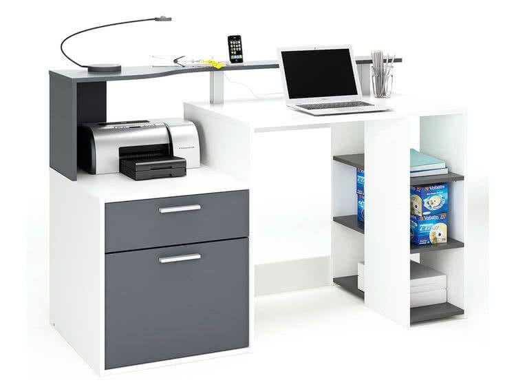 Bureau informatique tiroir porte étagère l xh cm oscar