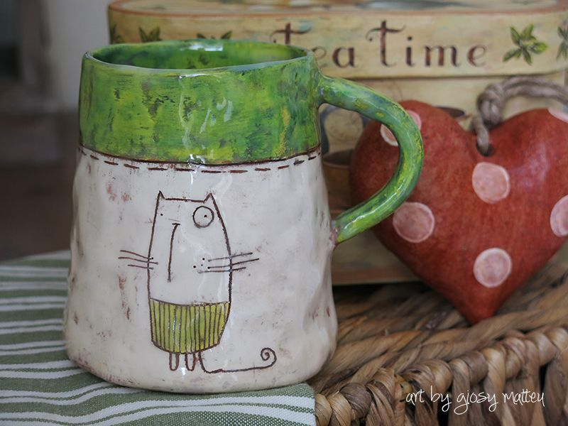 tea time - ceramic by Giosy #pottery #ceramica #ceramiccafe