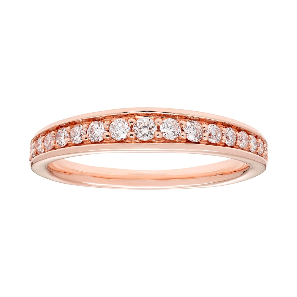 14k Gold 1 3 Carat T W Igl Certified Diamond Wedding Band Diamond Wedding Bands Wedding Ring Bands Gold