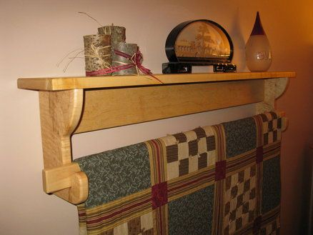 Wall Hanging Quilt Rack And Shelf 2 Quilted Wall Hangings