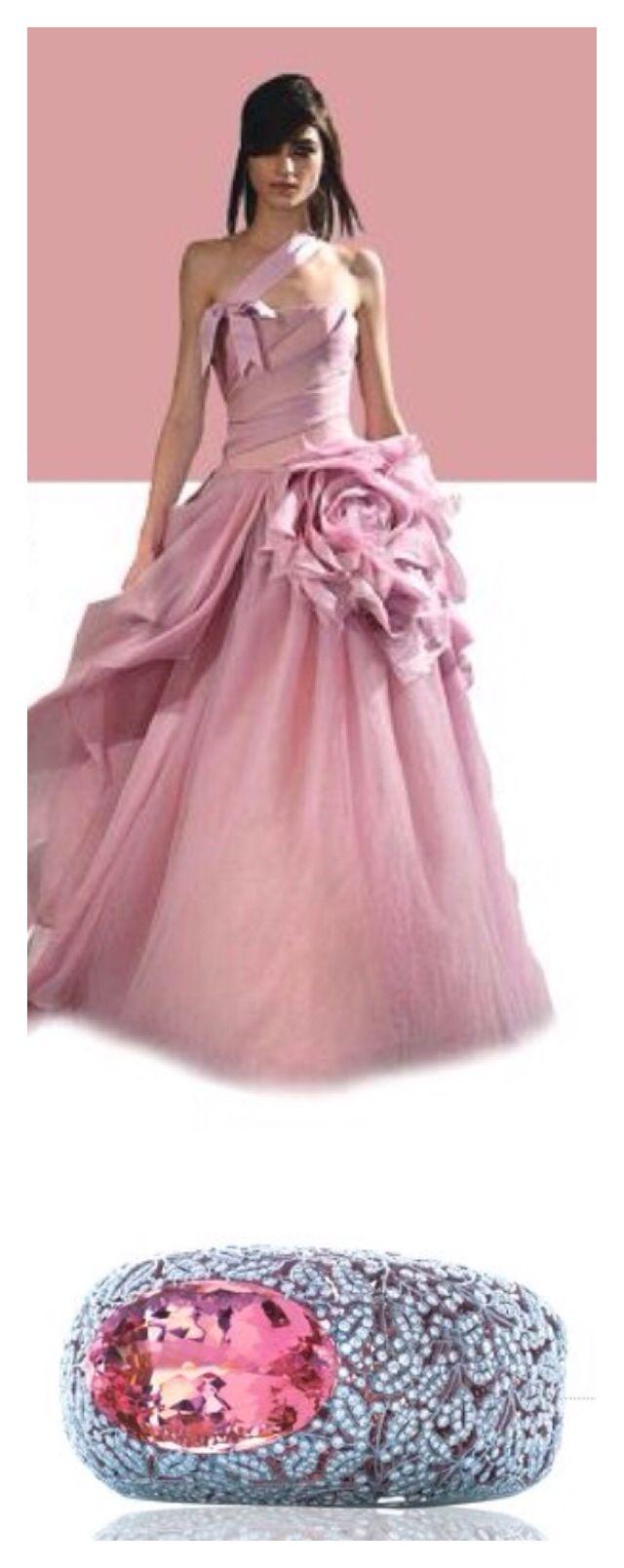 Vera Wang Gown & Pink Diamond⭐ | Wedding Dresses | Pinterest