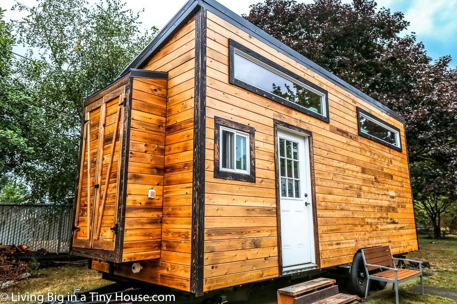 This Home Is The Cross Between A Tiny House On Wheels And A Kid S Dream Fort The Entire Open Area Betw Tiny Houses For Rent Diy Tiny House Tiny House Builders