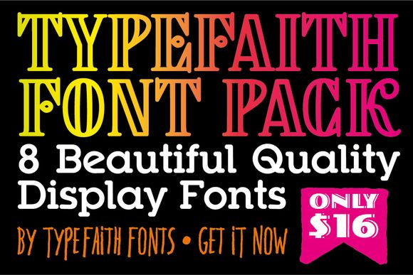 Download TypeFaith Creative Font Bundle (With images)   Font ...