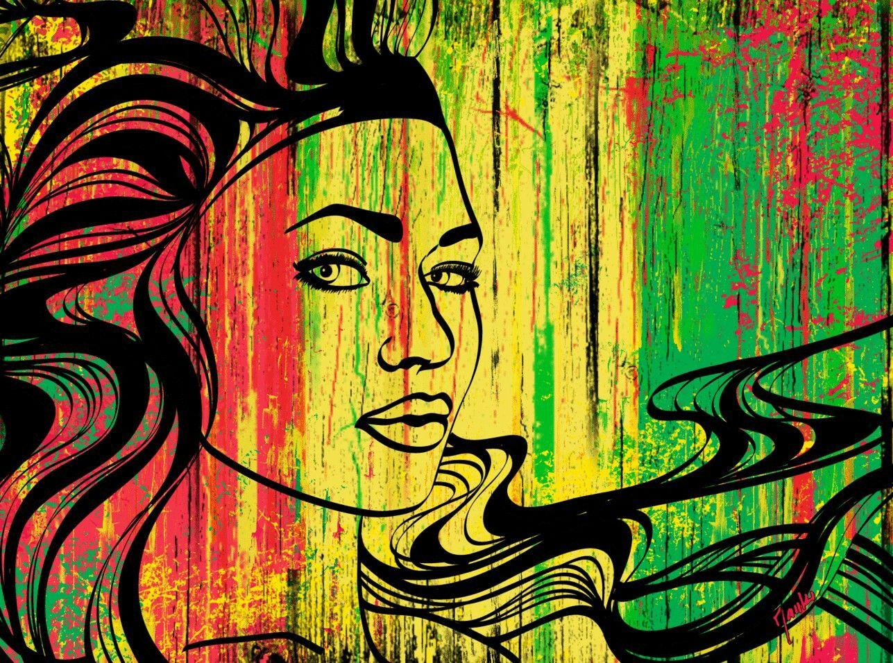 Reggae Woman | Reggae | Art, Wallpaper, Lion wallpaper