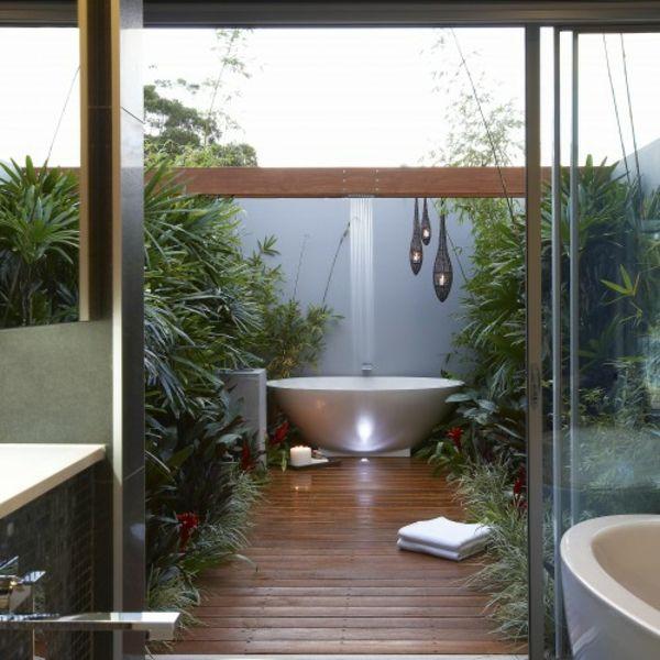 Modernes Badezimmer Ideen Dusche Tropisch | Homedesign | Pinterest |  Moderne Badezimmer, Badezimmer Und Rustikale Moderne Bäder
