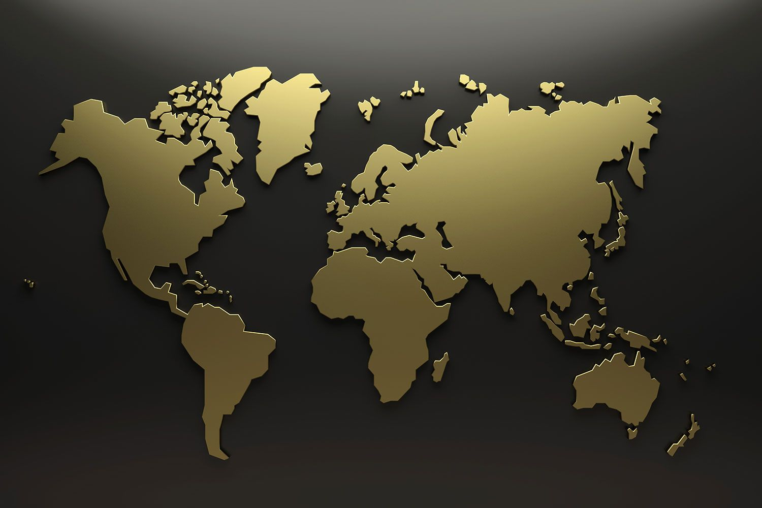 Choose Gold World Map Wallpaper To Create Fantastic Wall Decor In
