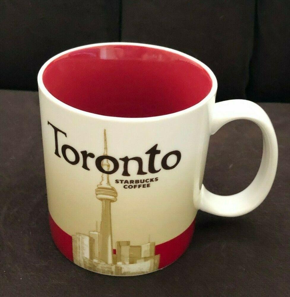 Starbucks Toronto Canada Coffee Mug Global City Icon Series 16 Oz