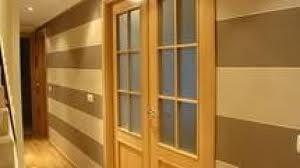 Papel pintado con puertas y suelo de roble pasillo - Papel pintado para puertas ...