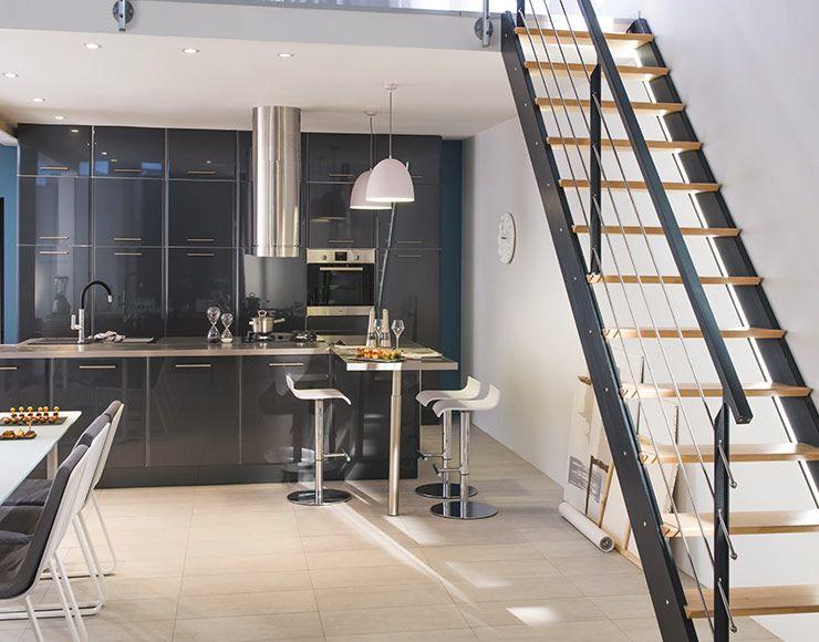 Meuble de cuisine Subway Gris Anthracite - CASTORAMA Cuisine - meuble de cuisine gris anthracite