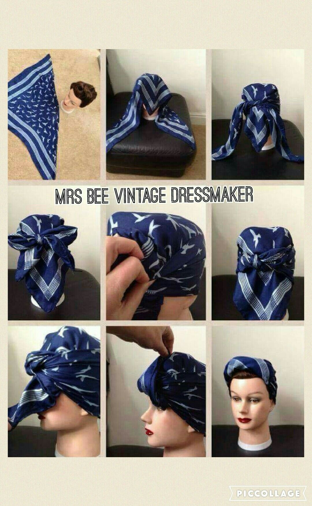 My Version Of The 1940 S Land Factory Girl Head Scarf Last Posted 2 Years Ago But As Its So Popular I T Hair Scarf Tutorial Scarf Hairstyles Head Wrap Styles
