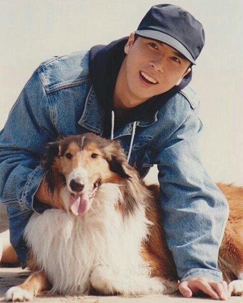 Photo of Donnie Yen & his  Dog
